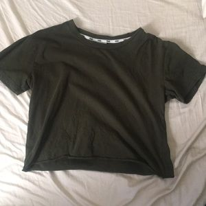 VS Green Cropped Tee